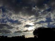 The sun plays Hide-n-Seek