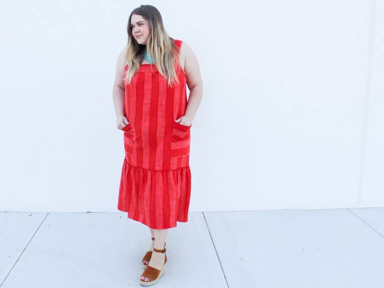 red striped look
