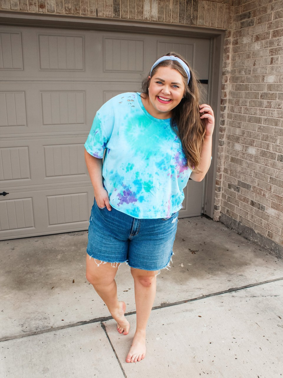 perfect tie dye pieces + distressing