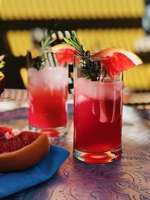 Quick Cranberry and Grapefruit Shrub