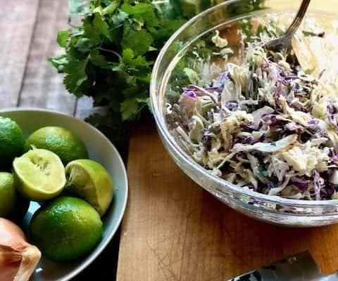 Cumin and Lime Cole Slaw