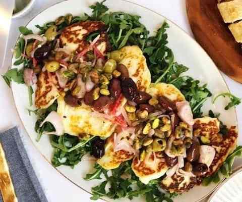 Pan Fried Halloumi Salad