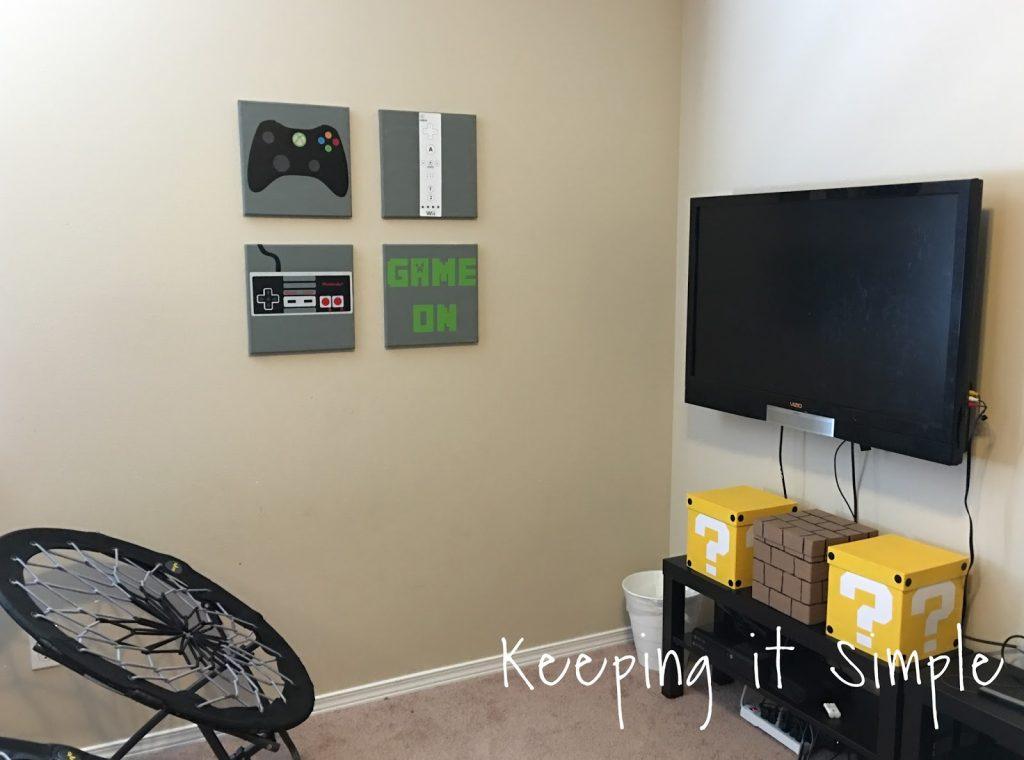 Boys Game Room Bedroom Decor Xbox And Nintendo