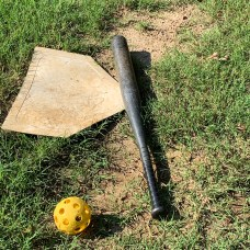 Home Plate with Natural Batter's Box