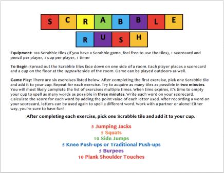 Scrabble Directions Screen 2