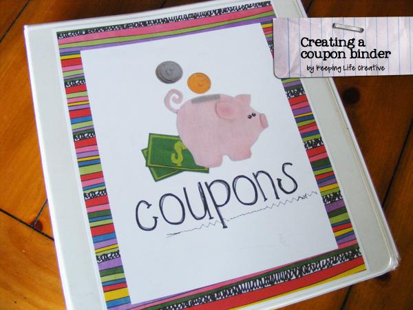 coupon binder cover printable