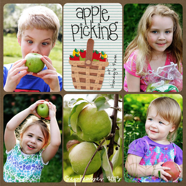 apple picking project homeschool page