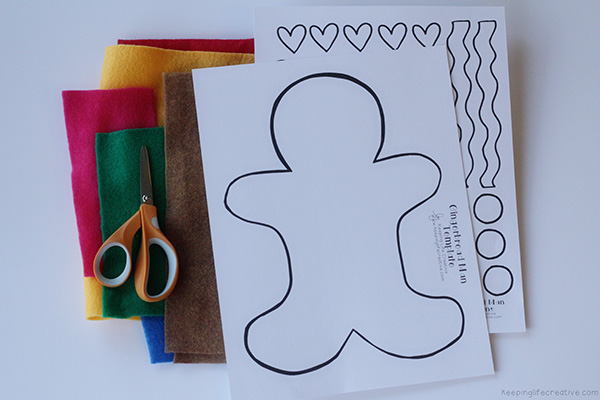 gingerbread man flannel board pattern