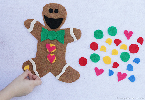 gingerbread man flannel board play