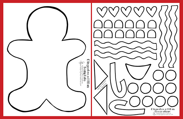 This is an image of Gingerbread Pattern Printable inside measurement
