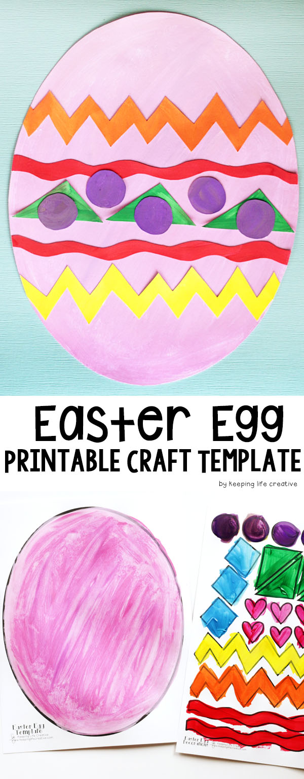 printable easter egg craft template keeping life creative