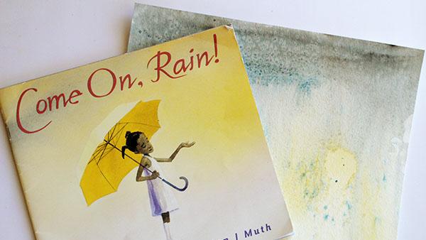 Watercolor and Salt Rain Art
