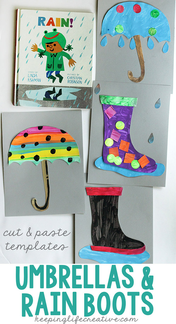 umbrellas and rainboots pin600