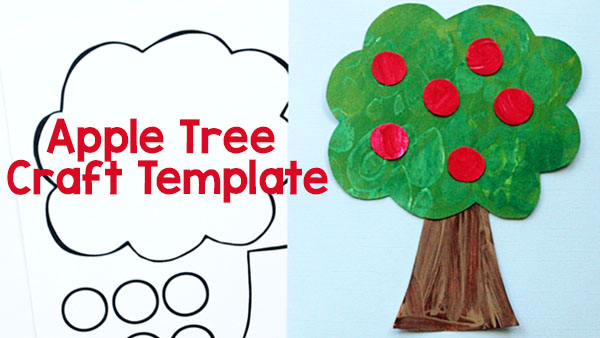 graphic regarding Printable Apple Template titled Printable Apple Tree Craft - Retaining Existence Imaginative