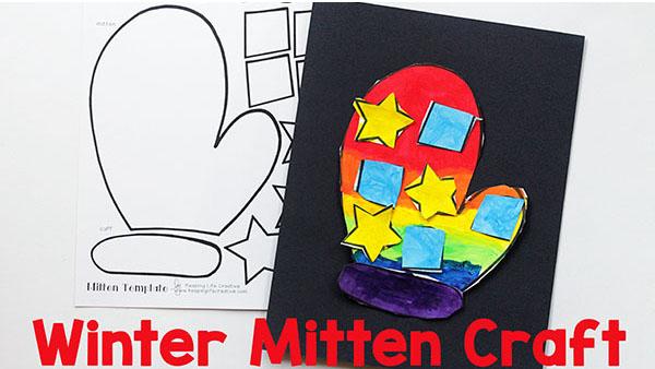Winter Mitten Craft for Kids
