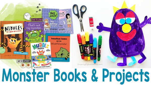 Non-Scary Monster Books and Projects