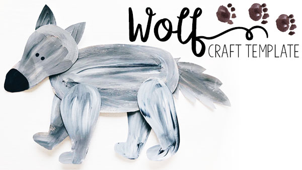 Cut-and-Paste Wolf Craft for Kids