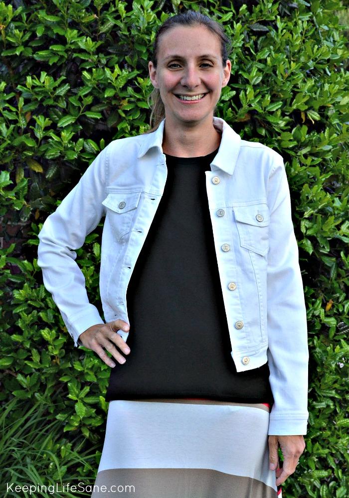 Stitch Fix May 2015- White Denim Jacket