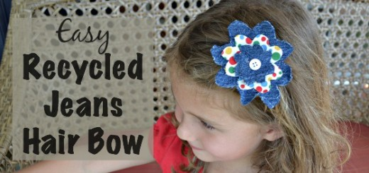 Easy Recycled Jeans Hair Bow