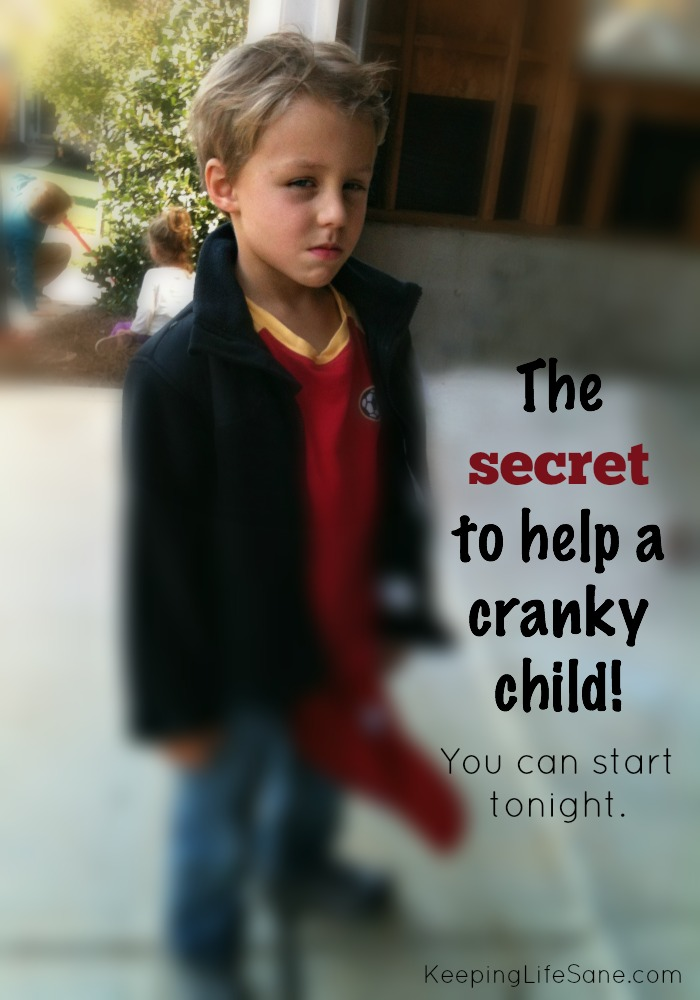 How I stopped my kids from being cranky! you have a cranky child? Here's a tip you that you can start tonight!