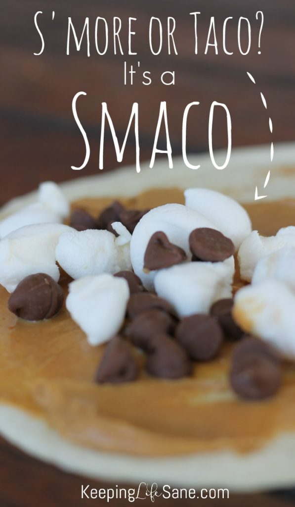 S'more or Taco? We had our fire pit going last night and each of us made a smaco! They are so fun and delicious and perfect for a cool fall night.