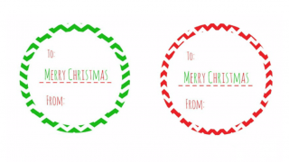Christmas Gift Tags- Circles