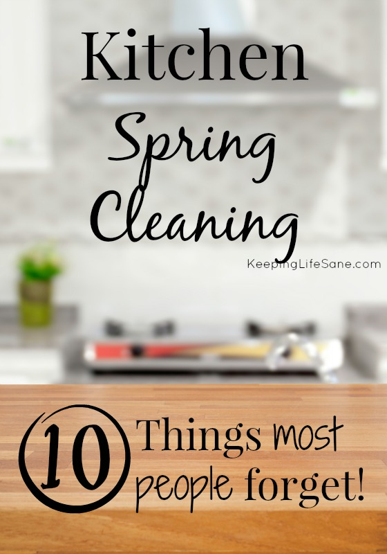 It's that time again- SPRING CLEANING!! Get this GREAT list of kitchen spring cleaning tasks that most people forget! You don't want to leave these off yours.