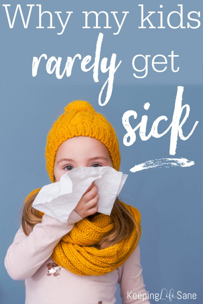 There are a few things I do to keep my kids healthy. I think this is why my kids rarely get sick. They are just little things, but they work.