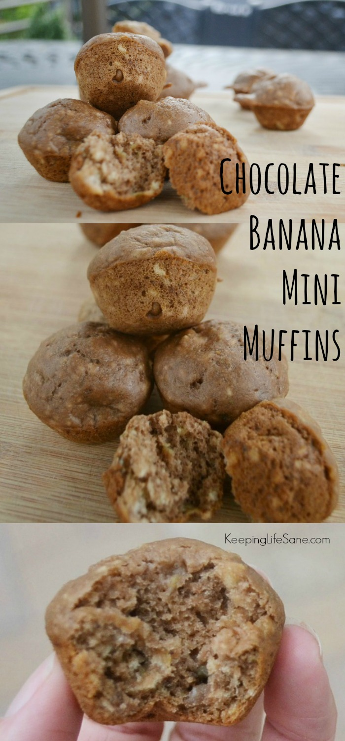 These Mini Chocolate Banana Muffins are a fantastic breakfast or afternoon snack.