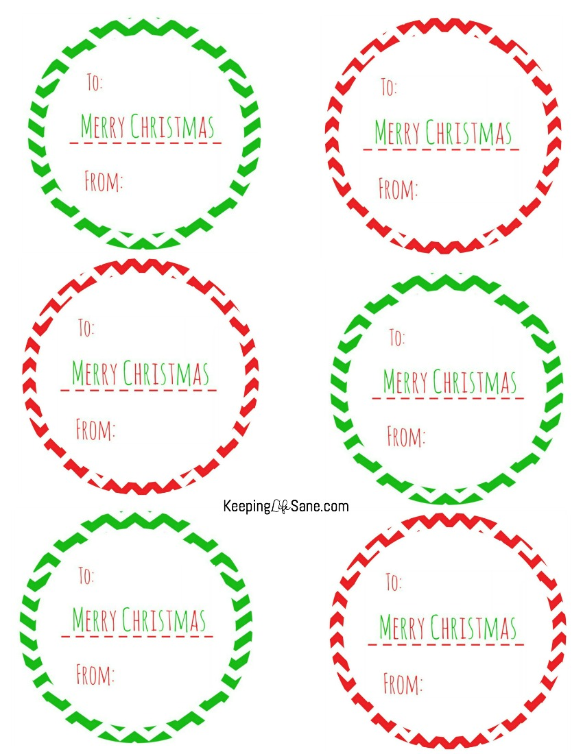 photo about Printable Christmas Gift Tag referred to as Absolutely free Printable Xmas Present Tags - Retaining Lifetime Sane