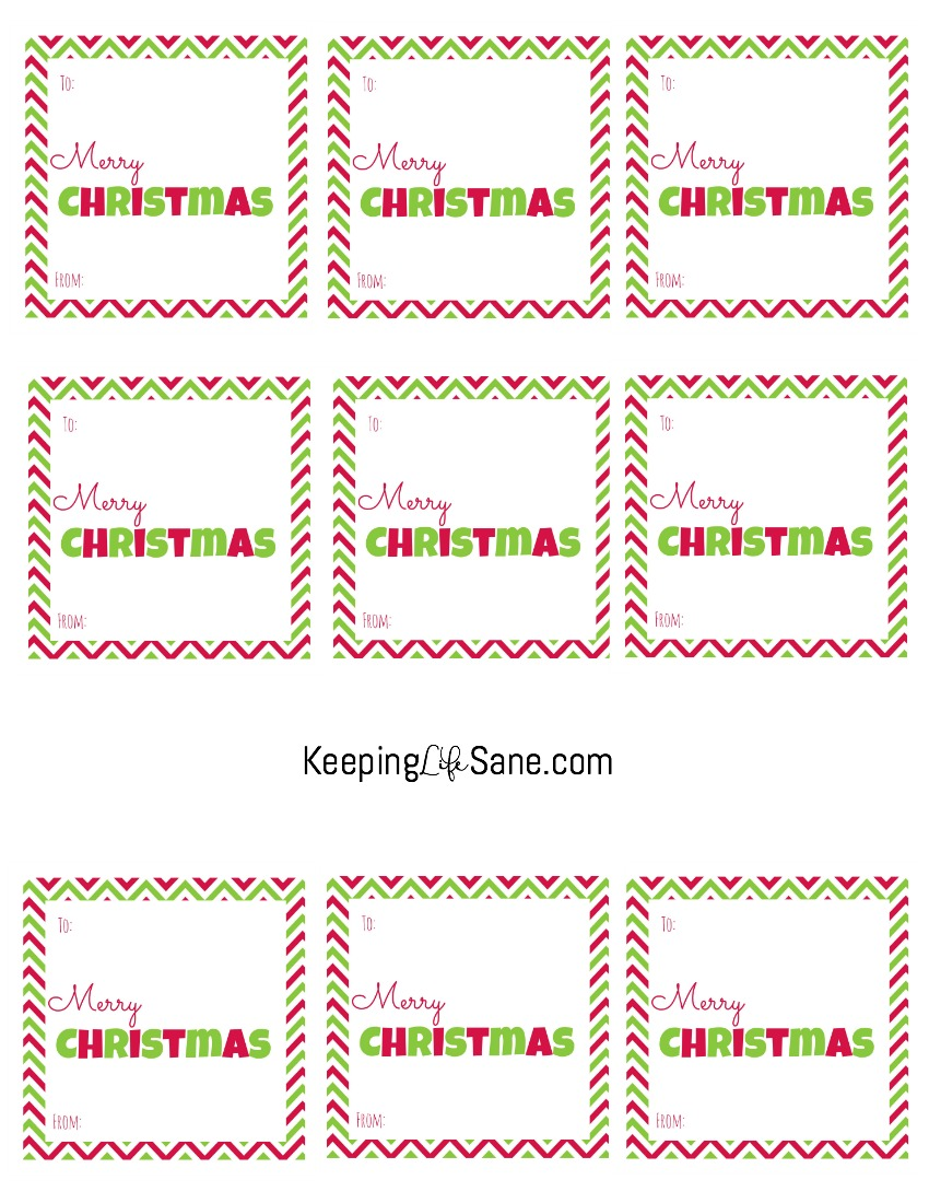 photograph relating to Free Printable Gift Tags Christmas identify No cost Xmas Present Tags- Printable Squares - Holding Lifetime Sane