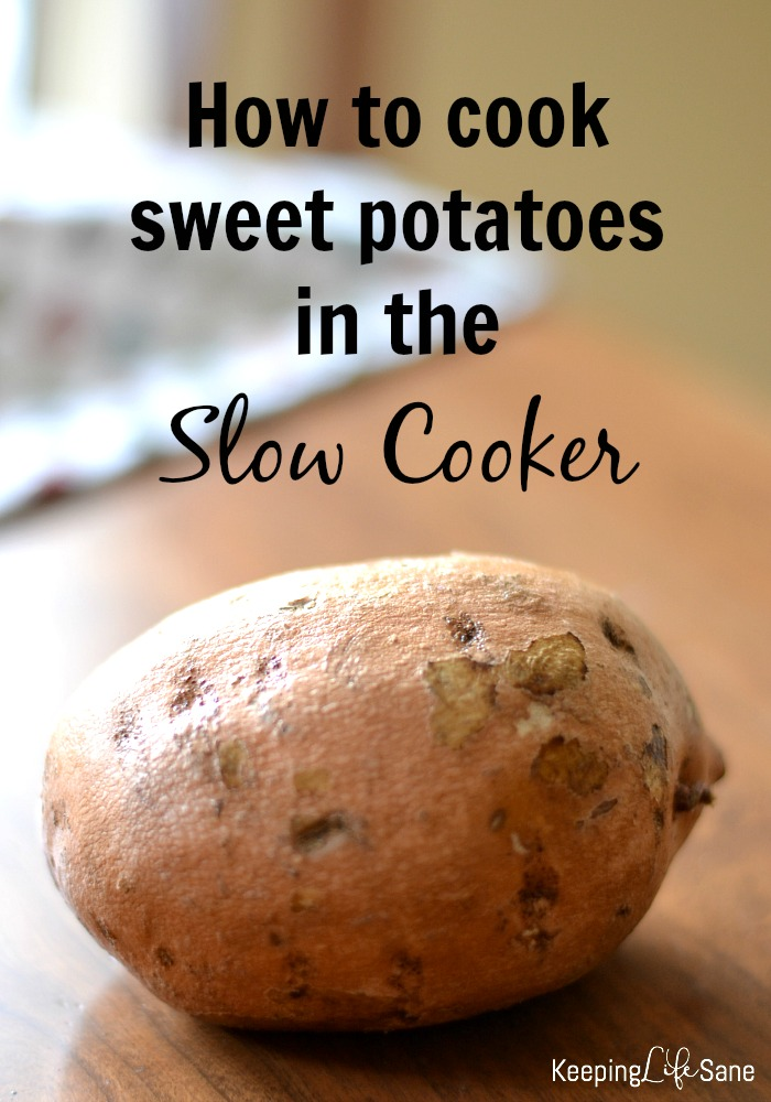 How to cook sweet potatoes in the slow cooker