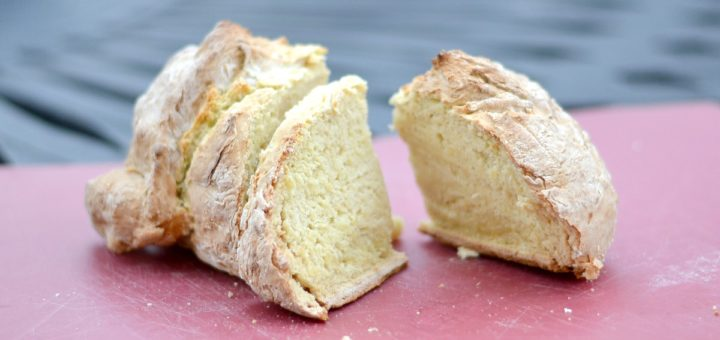 I love making easy Irish soda bread when we're having corned beef and cabbage. Who doesn't love butter on warm bread fresh out of the oven?