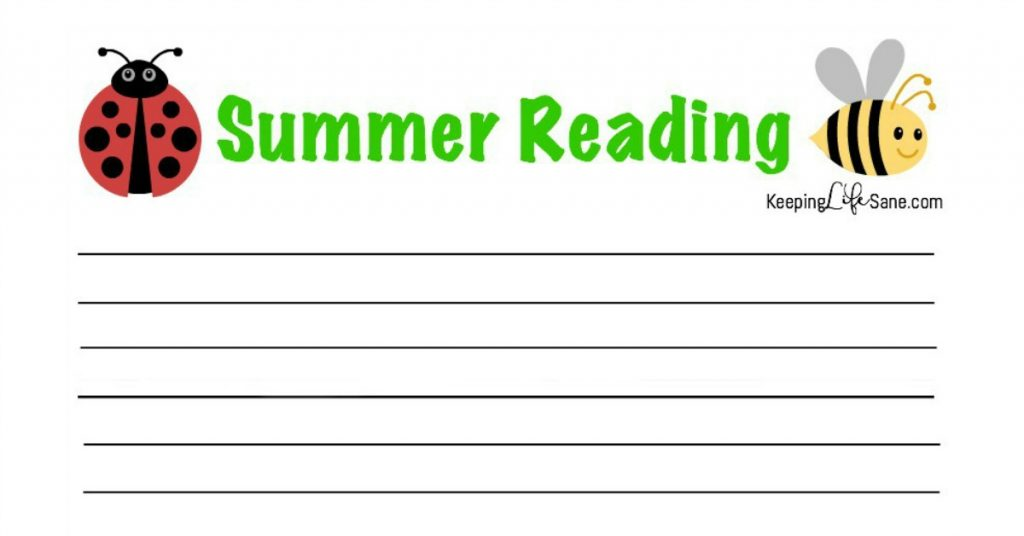 picture about Free Printable Reading Log named Summer months Studying Log- Cost-free Printable - Holding Lifestyle Sane