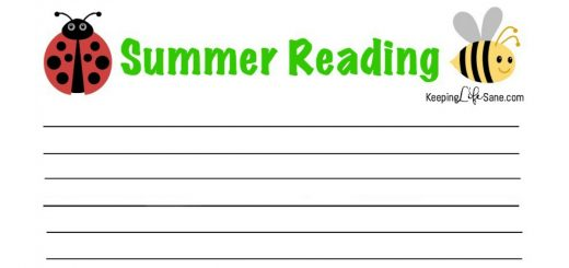 It's that time again...SUMMER READING! Here's a cute printable reading log so your child and keep track of what they're reading this summer.