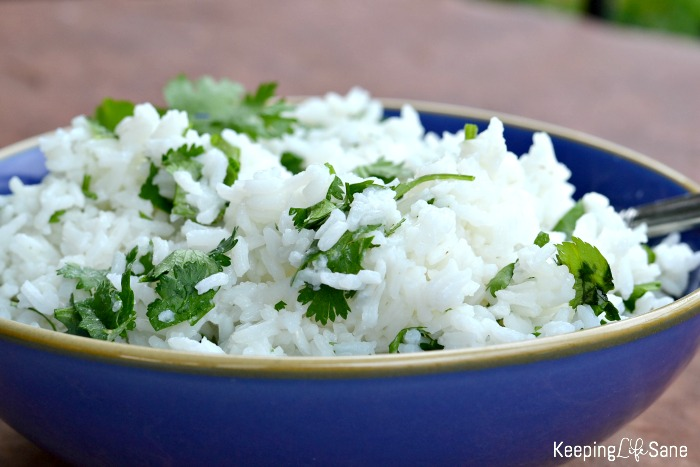 Are you searching for a side dish for dinner tonight? This cilantro lime rice is flavorful and delicious. Your entire family should eat it up!
