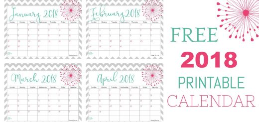 Can you believe it's that time again? Get your FREE 2018 calendar to print here. It's a super cute design and will keep you organized in the new year!