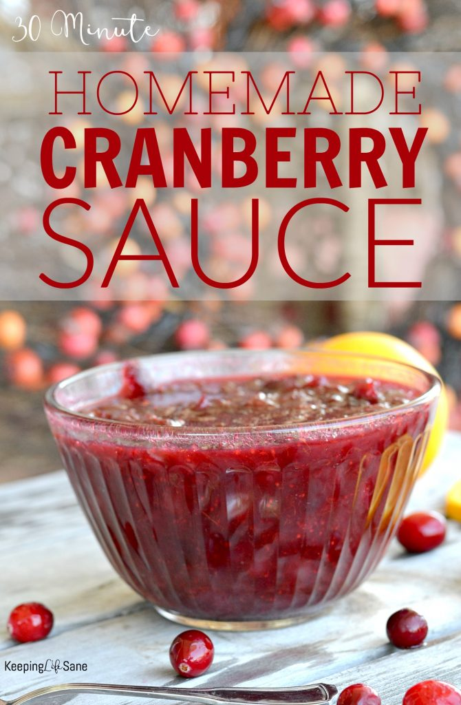 So many people take shortcuts and buy canned cranberry sauce. Here's a SUPER EASY cranberry sauce that takes less than 30 minutes.