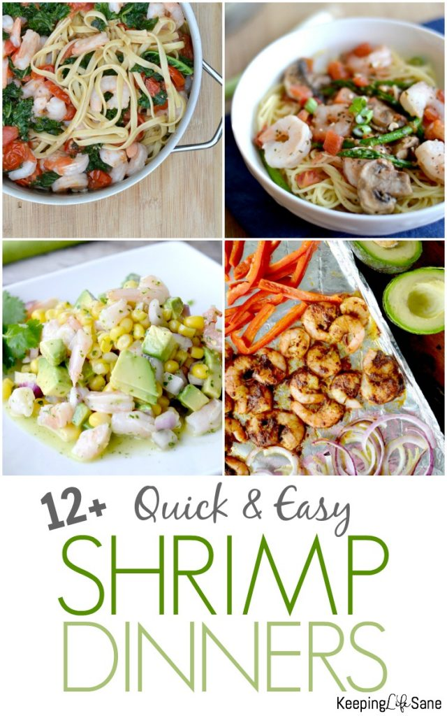 Here are some GREAT quick and easy shrimp recipes for a busy night. You can do so much with shrimp in a short amount of time.