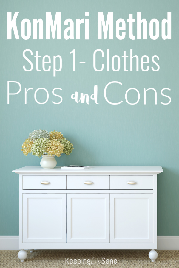 If you're trying to get organized, read this to make sure the KonMari Method is right for you. - The Pros and Cons of the KonMari Method Step 1- Clothes #KonMari #KonMariMethod #organizing #OrganizingClothes #MarieKondo #KonMariStep1