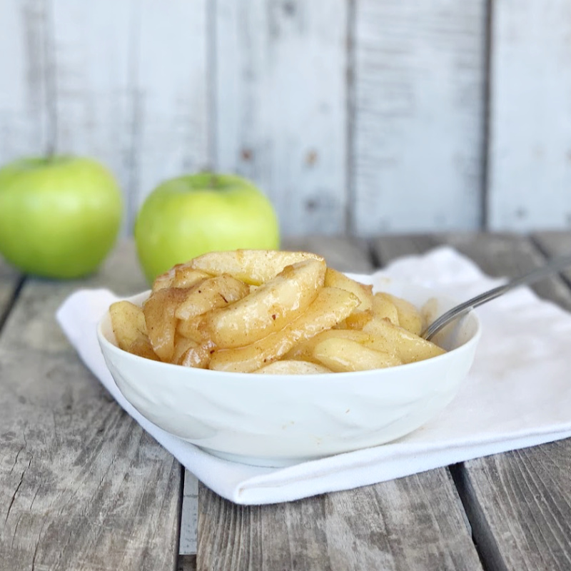 This EASY southern fried apple recipe is the perfect side dish for most dinners. Make sure to double the recipe and have some for breakfast too.