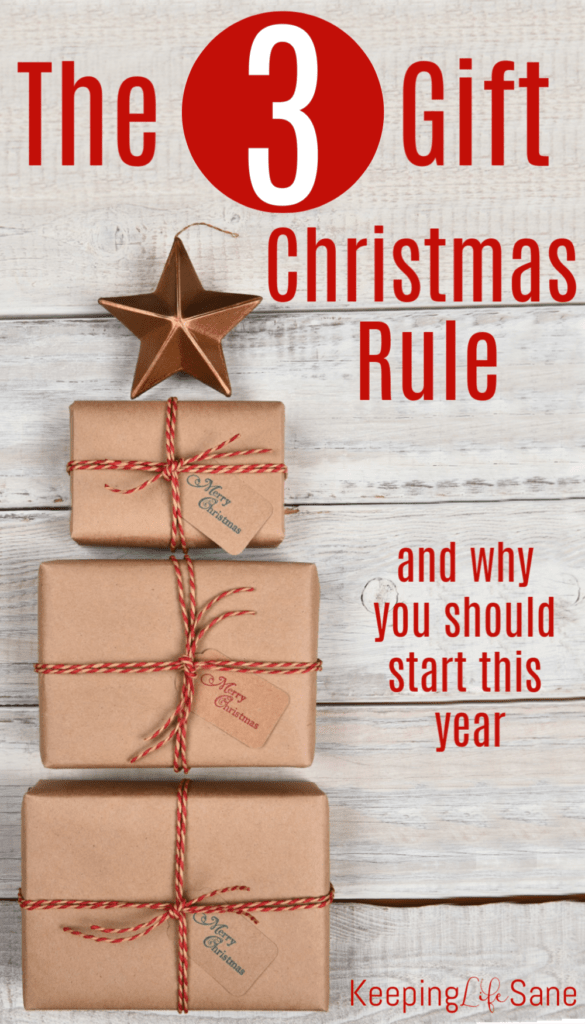 This is great to implement if you want to simplify the holidays with your kids. Read about how the 3 gift Christmas rule can help your family learn what Christmas is really about.