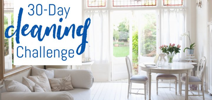 Don't get overwhelmed with all the cleaning you need to do. Print out this 30-Day cleaning challenge and you'll have it done in a month!