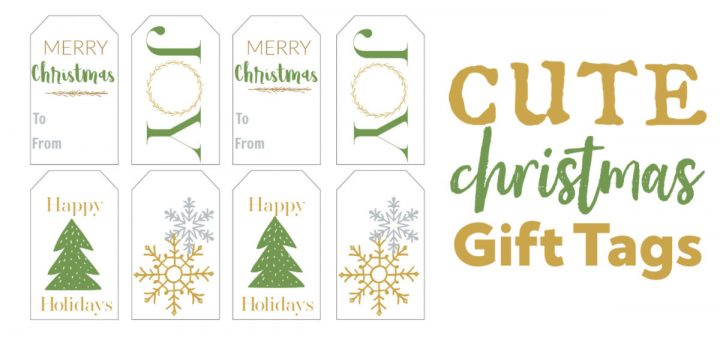 These are the cutest green and gold Christmas gift tags. Save some money this year and click over and print them out for free.