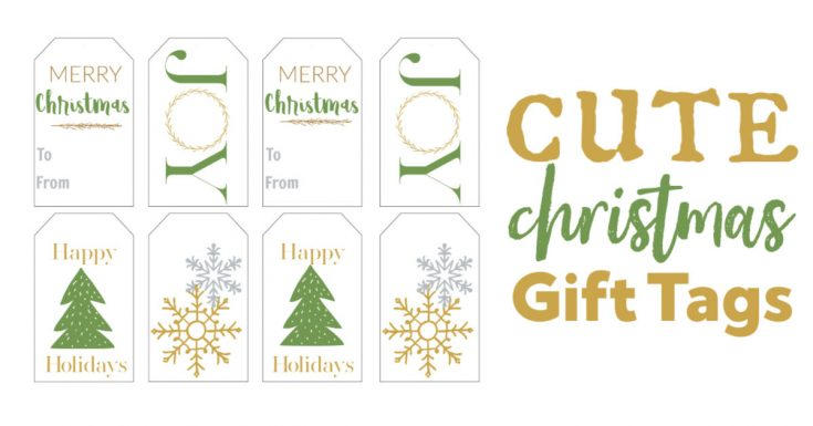 Green and Gold Christmas Gift Tags