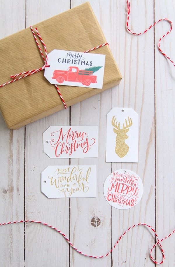 Free Printable Christmas Gift Tags for Simple Gift Wrapping