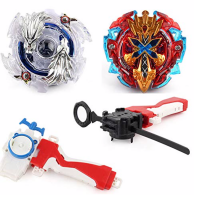 Hopture Bey Battle Burst 2 in 1 Metal Fusion Battling Tops with 4D Launcher Grip Battle Set