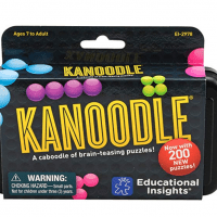 Educational Insights Kanoodle | Brain Twisting 3-D Puzzle Game for Kids & Adults | Featuring 200 Brain Games