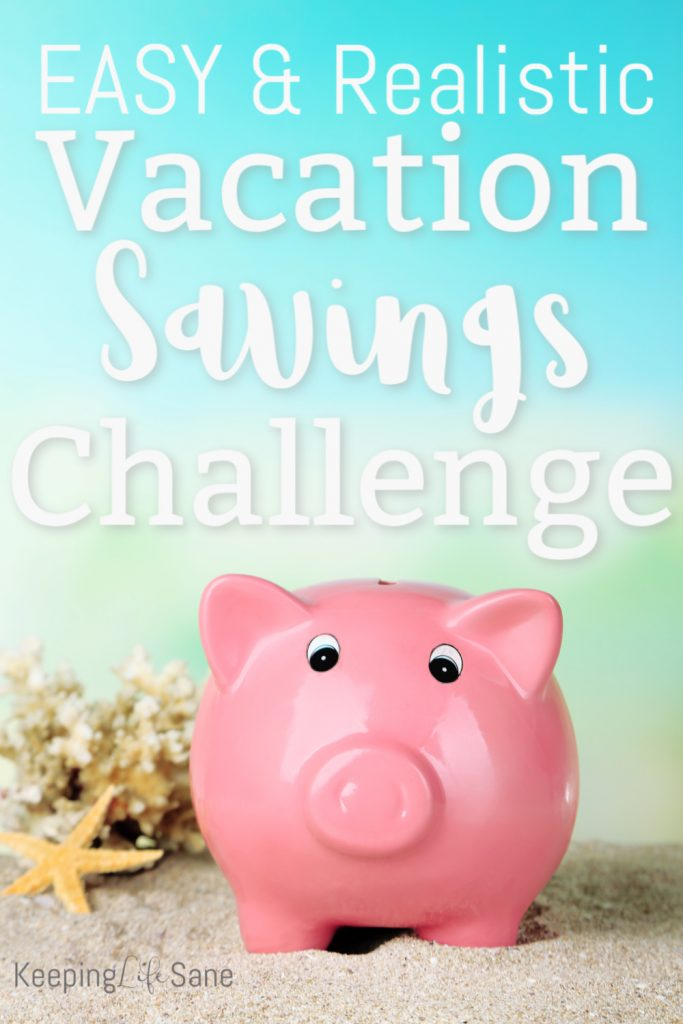 "You may be wondering, ""How do I save for vacation?"" Learn about this REALISTIC vacation savings challenge. It's comes with a cute printable to help make saving easy."