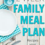 What can I make my family for dinner? Save some time and money by getting this two week dinner meal plan. It's a life saver when you're in a dinner rut!